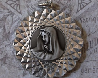 West German Machined Medal, Santa Maria Addolorata Church Chicago, Illinois Diamond Jubilee Dated 1978, Blessed Virgin Mary