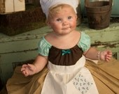 CINDERELLA Work dressfor kids cute girls dress up costume apron dress