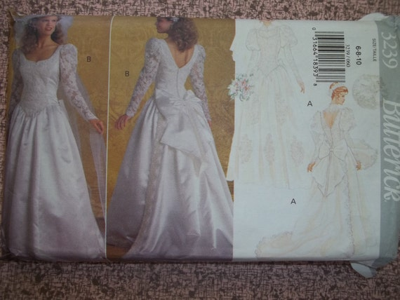 Wedding gown pattern butterick 3239 bridal gown by Butterick wedding dress patterns