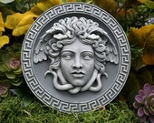 Medusa Plaque - Greek Mythology Goddess - Gorgon Wall Art