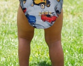 Vintage styled retro pedal cars boys Diaper Cover from MamaSan and Miso Punk