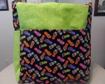 flip flops large tote bag/purse/ diaper bag