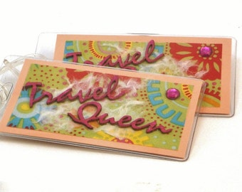 Travel Queen Luggage Tags-Set of Two-Womens Travel Accessories-Made in the USA