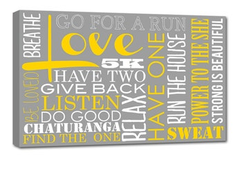 "Typography ""ELITE"" Series Word Art Canvas art personalized Words and phrases wall art 24X36"