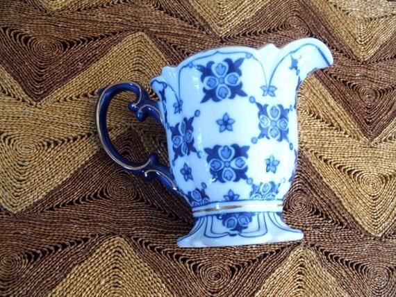 Vintage Cobalt Blue Pitcher Bombay