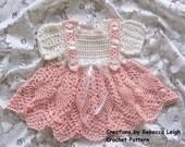 Crochet Pattern for Newborn Haleigh Baby Girl Dress