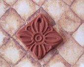 Essential Oil Diffuser Necklace Diamond Shaped Terracotta Flower