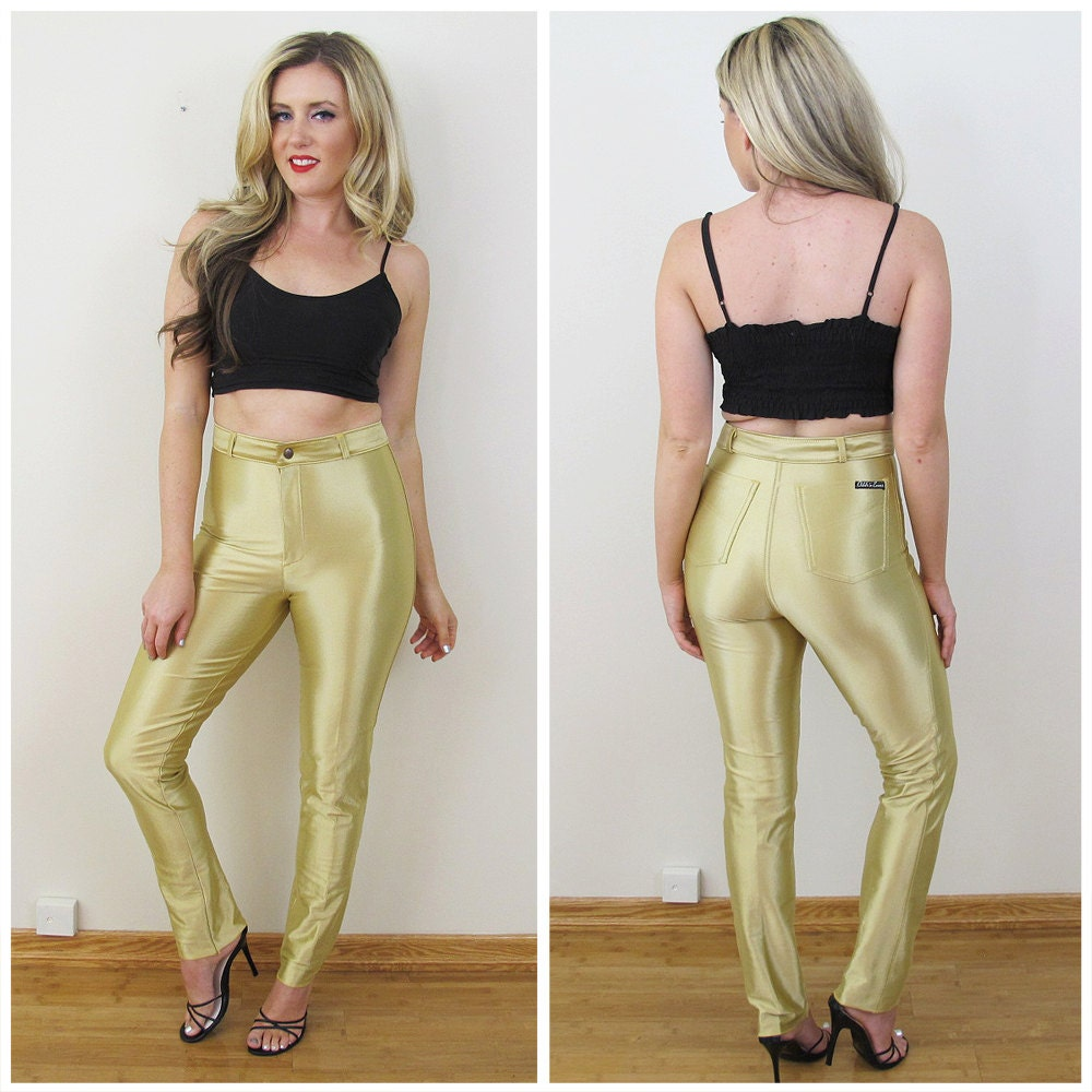 Fashion week How to gold wear disco pants for lady