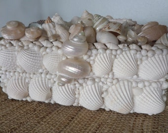 One Of Kind-Beach Shabby Chic Seashell Embellished Jewely / Treasure Box