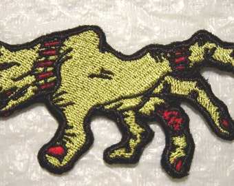 Creepy ZOMBIE HAND -  Iron on Applique - Patch - 2 Sizes - Made in USA - Free U.S. Shipping