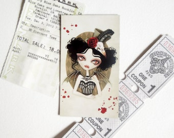 Countess Nocturne Refrigerator Magnet, Mini Art on your Fridge, Snail Mail, Postcrossing, Pen Pal gift