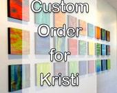 CUSTOM ORDER for KRISTI Original Painted Wood Wall Sculpture Installation Custom Art Installation 28 piece collection by Rosemary Pierce