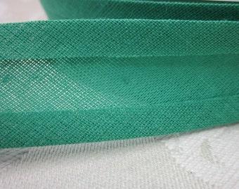 25m Green Cotton Bias Binding