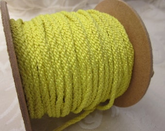 3 Metres 4mm Bright Yellow Lacing Cord