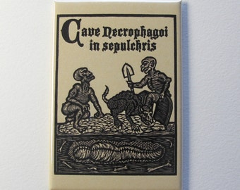 Ghouls Pickman's Models Necronomicon art magnet 2 x 3 inches