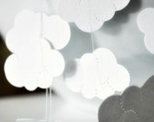 White Clouds {Vertical 1.8m}  Stitched Paper Mobile Nursery Christening Baptism Children Decor Photo Prop- seen Front Page Etsy
