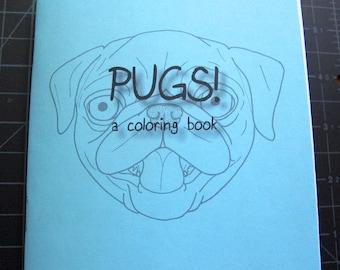 Mini Pug Coloring Book