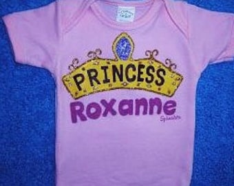 Personalized  Princess Baby Bodysuit, Baby Girl Princess, Personalized Baby Girl Bodysuit,Baby  Princess