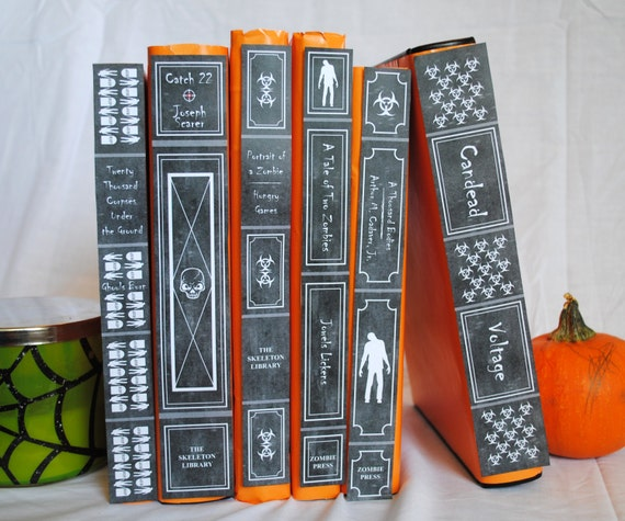 Classic Book Cover Download : Spooky halloween book spine covers classic by lisakaydesigns