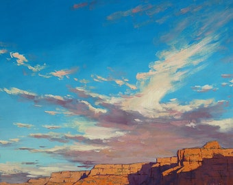 DESERT Art CLOUDS PAINTING Grand Canyon Large oil Painting Landscape painting By Graham Gercken