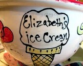 Custom ceramic pottery bowl you design ice cream popcorn cereal more personalized kiln fired pottery kids teens adults wedding birthday fun