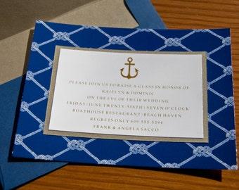 Nautical Anchor Knot Wedding Invitation Set of 10 by Belleza e Luce