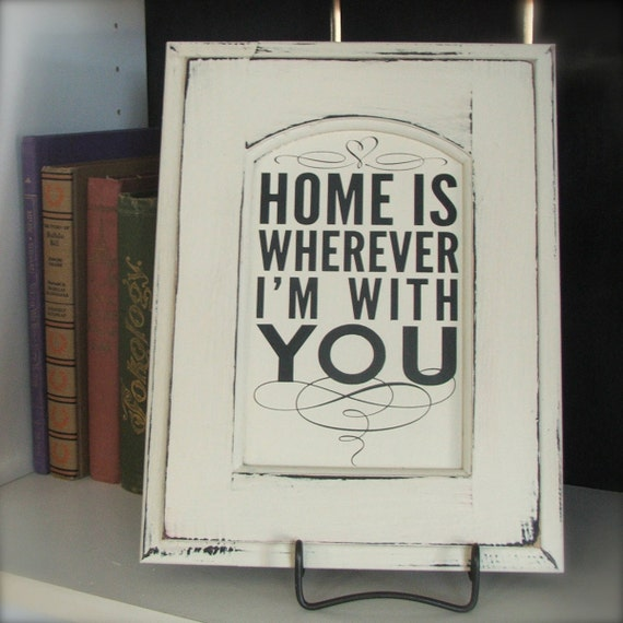 Home Is Wherever I M With You Wood Sign Home Decor: Home Is Wherever I'm With You SUBWAY By OldBarnRescueCompany