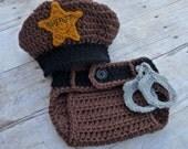 Custom Crochet Little Sheriff Set