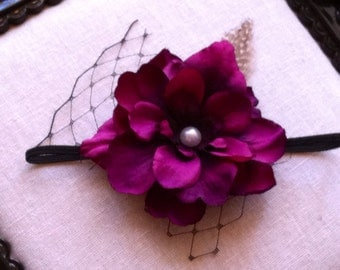 Baby headbands, Baby Girls Headbands, Flower Headbands, Purple headbands, Skinny headbands, Vintage headbands, photography props, Hairbows