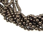 100 BROWN 4mm Pearl Beads - 5810 Swarovski Crystal Pearls - Milk Chocolate Pearls - Swarovski Beads