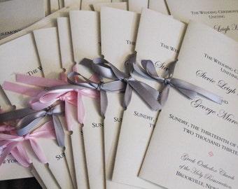 Custom Booklet Wedding Program
