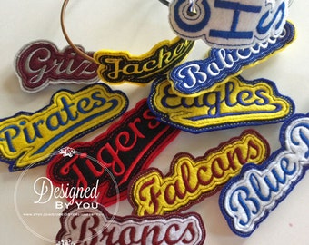 School Spirit Head Band Sliders...Many Teams, Your Choice of Colors