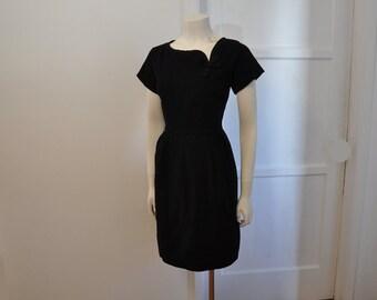 1950s dress / Picture Perfect / Vintage 50's Dress / Renoir Little Black Dress
