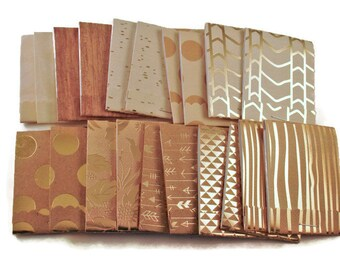 20  Matchbook Notepads  Matchbook Favors in  Gilded