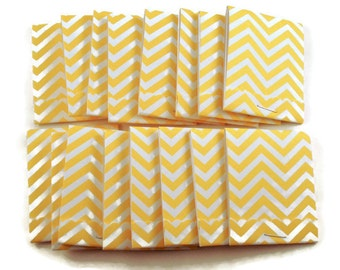 20  Matchbook Notepads  Matchbook Favors in  Yellow Chevron