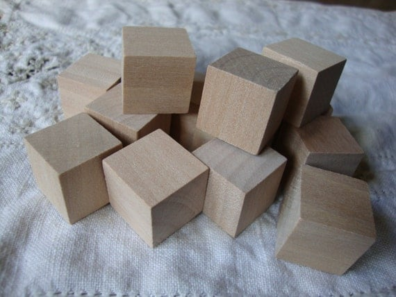 mini wood blocks unfinished wood crafts supplies 3 4