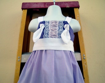 PRINCESS SOFIA Purple and White Knot Dress  @@ Sizes from  12 Mo. to 8 girls @@