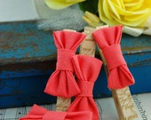 Burlap Rose Collection Fancy Magnetic Clothespins Set of 4 Roses or Bows