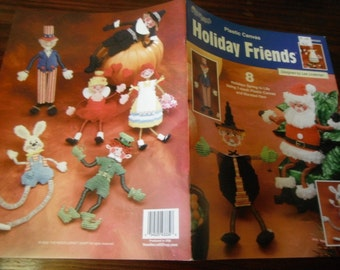Christmas Plastic Canvas Patterns Holiday Friends The Needlecraft Shop 843334 Plastic Canvas Leaflet