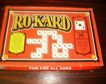 Vintage Game Ro-Kard Complete and Hard to Find