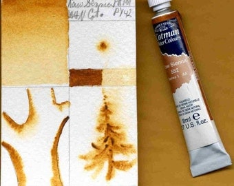 Watercolor paint Winsor and Newton Cotman student grade Raw Sienna