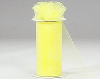"""108"""" x 50 yd  Bolt of Top Quality Made In The USA Tulle Bolt -LEMON"""