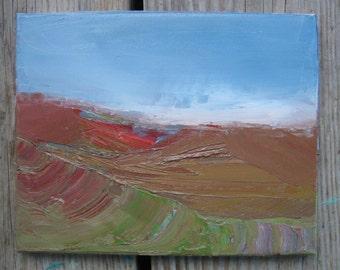 Northern Mountain Autumn, Original oil painting on canvas