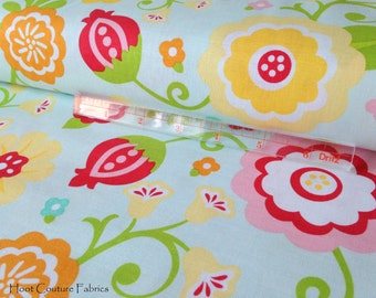Simply Sweet Main Floral in Blue C3460 by Lori Whitlock for Riley Blake Fabrics 1/2 yard on sale