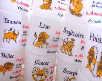 1970s Vintage Arcopal Zodiac Mugs, Milk Glass, White Glass,  Zodiac Signs, Vintage Kitchen,  Birthday Mugs, Special Gift, Kitchenalia