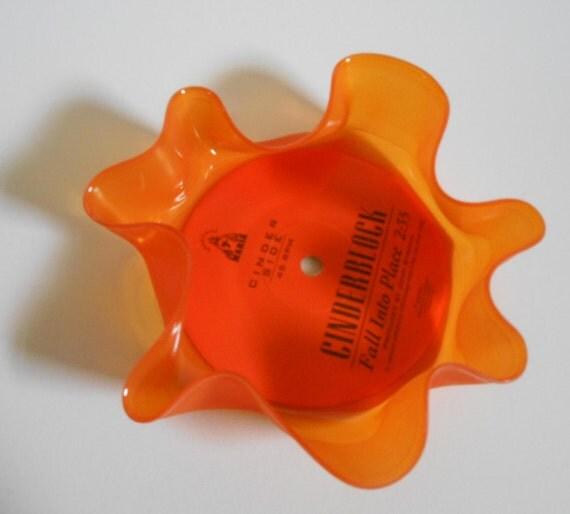 Orange Record Bowl colored vinyl record 7 inch