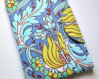 Padded Mini ipad Sleeve in Amy Butler Temple Tulip Azure