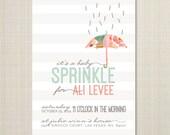 Baby Shower Invitations - Unique Baby Shower Invitations - Shower Invitations - Sprinkles Baby Shower invitation - baby sprinkle.