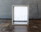 8x10 picture frame with driftwood gray finish part of Drift Collection . 8x10 handmade picture frame .