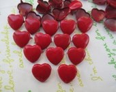 Colorful Iron HEART Rivet Studs with 2 claws 12mm Leather Crafting 30pcs RED